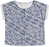 Roxy Geo-Print Cotton Shirt, Big Girls (7-16)