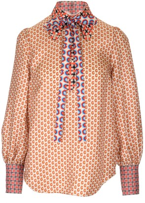 Gucci All Over Printed Pussybow Blouse
