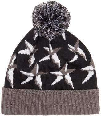 Perfect Moment Star-jacquard Wool-blend Hat - Womens - Black