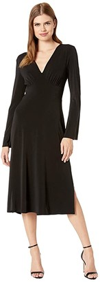 BCBGeneration Bell Sleeve Day Dress (Black) Women's Clothing