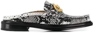 Versace Medusa chain mock slippers
