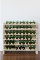 6 Layers of 9 Bottles Wine Rack Finish: Natural