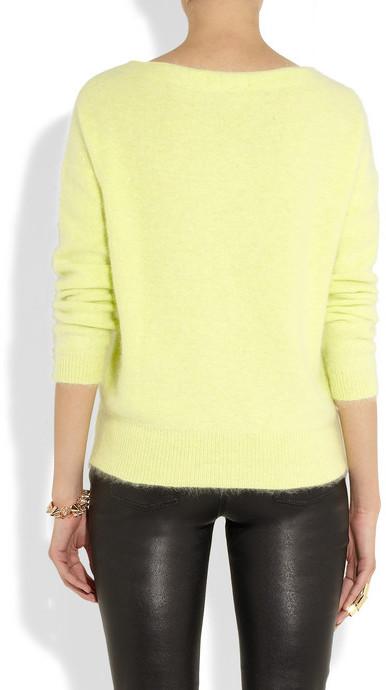 Maje Origan neon knitted sweater