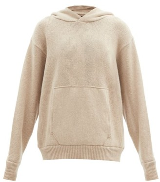 LES TIEN Hooded Cashmere Sweater - Beige