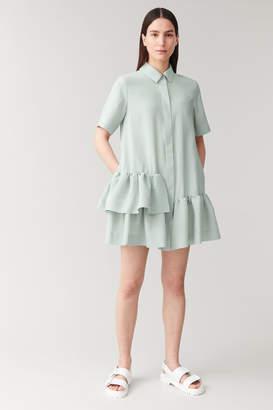 Cos Frilled Short-Sleeved Shirt Dress