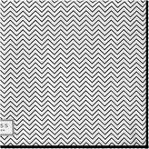 Reiss Anders - Zig-zag Silk Pocket Square in White, Mens