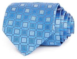 Eton Square Grid Silk Classic Tie