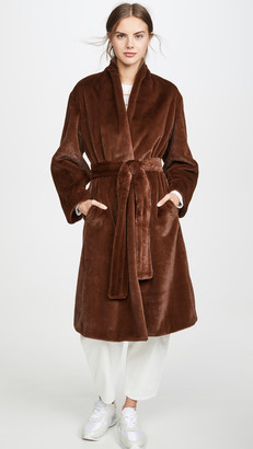 Vince Long Plush Coat