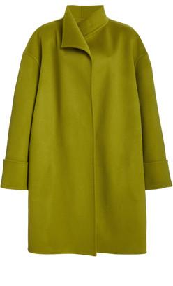 Brandon Maxwell Funnel Collar Wool Coat