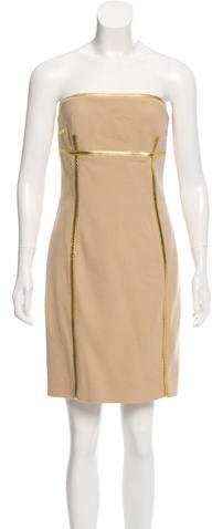Michael Kors Strapless Wool Dress