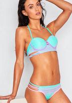 Missy Empire Uno Teal Ombre Lace Bikini