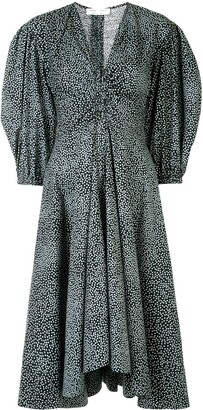 Proenza Schouler White Label Exaggerated Sleeve Fitted Dress