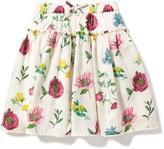 Old Navy Floral Pom-Pom-Hem Midi Skirt for Toddler Girls