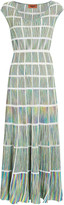 Missoni Knit Window Pane Midi Dress