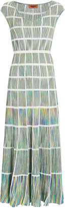 Missoni Knit Window Pane Midi Dress