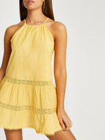 Thumbnail for your product : River Island Mini Swing Dress - Yellow