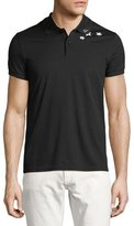 Saint Laurent Star-Collar Cotton Pique Polo Shirt