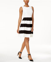 Nine West Striped Fit & Flare Dress