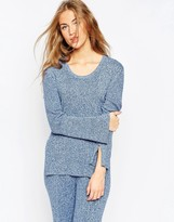 Asos Knit Tunic in Denim Look Yarn with Splits