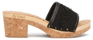 By Walid 19th-century Silk And Cork Platform Sandals - Womens - Black