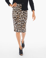 Chico's Leopard Scuba Pencil Skirt