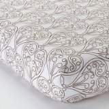 Bacati Damask White and Chocolate Crib Fitted Sheet