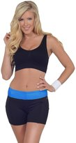 Hot From Hollywood Womens Activewear Colorblock Mid Rise Exercise Yoga Running Shorts with Pockets