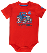 Carhartt Bright Red 'This is How I Roll' Tractor Bodysuit - Infant