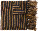 Mp Massimo Piombo striped fringed scarf