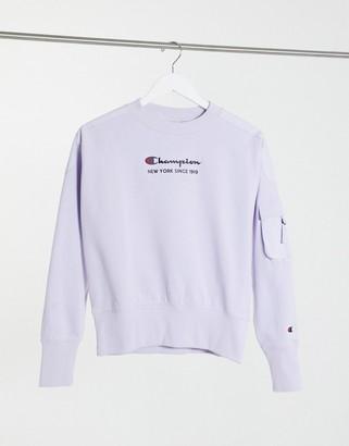 Champion ripstop sweatshirt in lilac