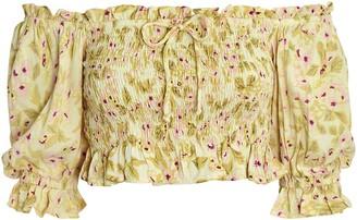 Faithfull The Brand Isadora Puff Sleeve Crop Top