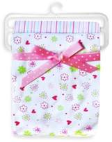 SpaSilk Flower 2-Pack Swaddle Blanket in Pink