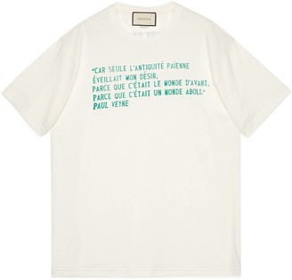 Gucci Oversize T-shirt with Paul Veyne print