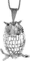 Sabrina Silver Sterling Silver Large Owl Pendant, 1 1/4 inch