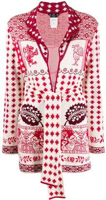 John Galliano Pre Owned 1990's intarsia cardigan