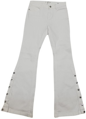 MANGO White Cotton Jeans for Women