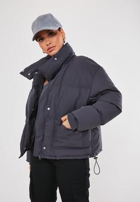 Missguided Dark Grey Ultimate Puffer Jacket