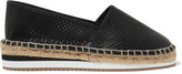 Eight Laser-cut leather espadrilles