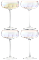 LSA International Pearl Champagne Saucers (Set of 4)