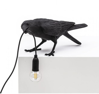 Seletti Black Playing Outdoor Bird Lamp - resin | black - Black/Black