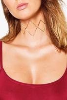 Boohoo Lydia Open Metal Ribbon Tie Choker