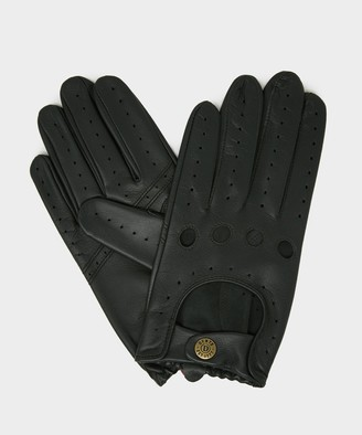 Dents Gloves Dents Leather Unlined Driving Glove in Olive