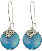 Alexis Bittar Crystal Encrusted Origami Inlay Dangling Sphere Kidney Wire Earrings Earring