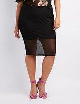 Charlotte Russe Plus Size Mesh Pencil Skirt