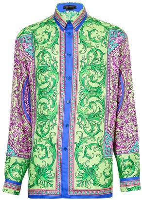 Versace Le Pop Multicolored Silk Shirt