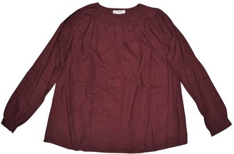 BA&SH Bash Burgundy Cotton Top for Women
