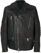 Neil Barrett leather aviator jacket