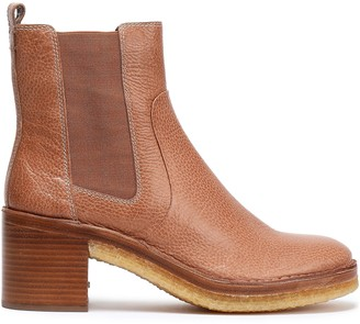 Tory Burch Pebbled-leather Ankle Boots