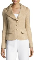 St. John Chevron-Knit Blazer, Multi