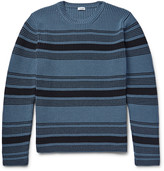 Loewe - Striped Ribbed-knit Cotton-blend Sweater